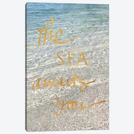 Sea Awaits You II Canvas Print #SRH36} by Sarah Gardner Canvas Art Print