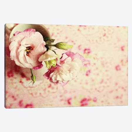 A Cup Of Romance Canvas Print #SRH3} by Sarah Gardner Canvas Wall Art