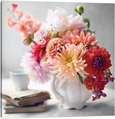 Afternoon Tea Floral Canvas Art Print