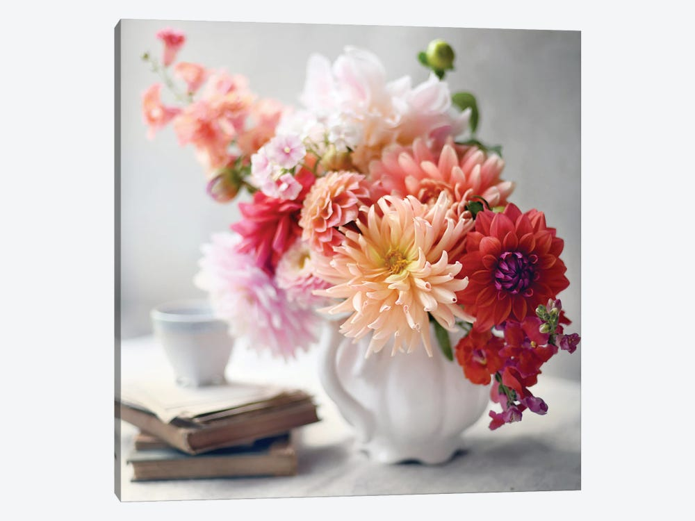 Afternoon Tea Floral 1-piece Canvas Wall Art