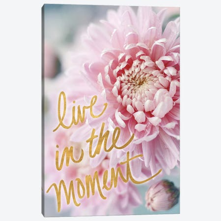 Live in the Moment Canvas Print #SRH57} by Sarah Gardner Canvas Art Print