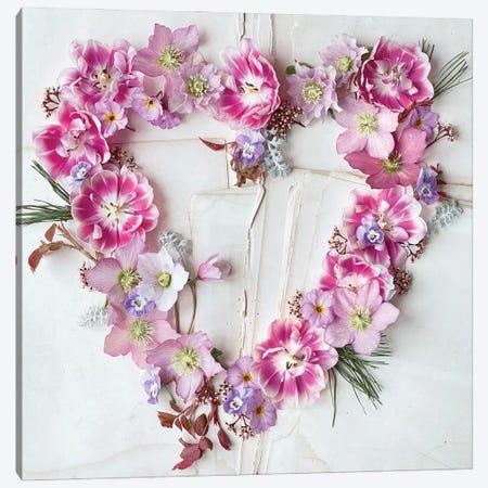Heart of Flowers Canvas Print #SRH69} by Sarah Gardner Art Print