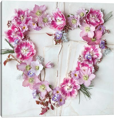 Heart of Flowers Canvas Art Print