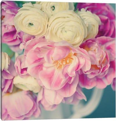 Blushing Blooms II Canvas Art Print