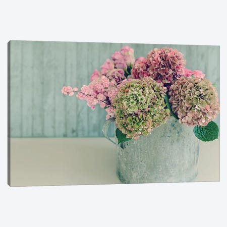 Blossoming Water Can Canvas Print #SRH9} by Sarah Gardner Canvas Artwork