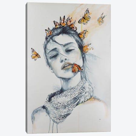 Butterfly Kisses Canvas Print #SRI10} by Sara Riches Canvas Print