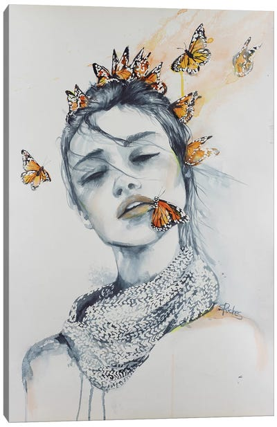 Butterfly Kisses Canvas Art Print