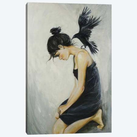 Call Of The Crow Canvas Print #SRI12} by Sara Riches Art Print