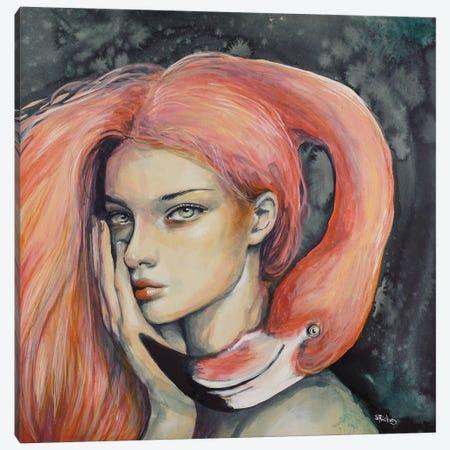 Flamingo Canvas Print #SRI24} by Sara Riches Canvas Print