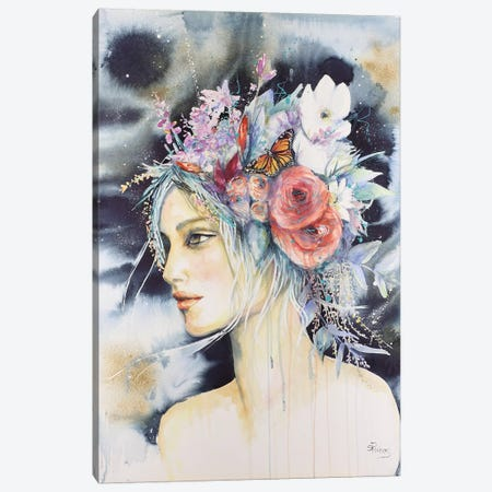 Flora Canvas Print #SRI25} by Sara Riches Canvas Print