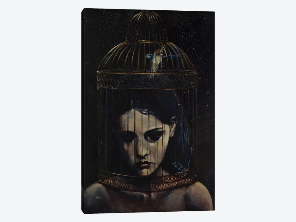 Gilded Cage by Sara Riches 1-piece Canvas Print