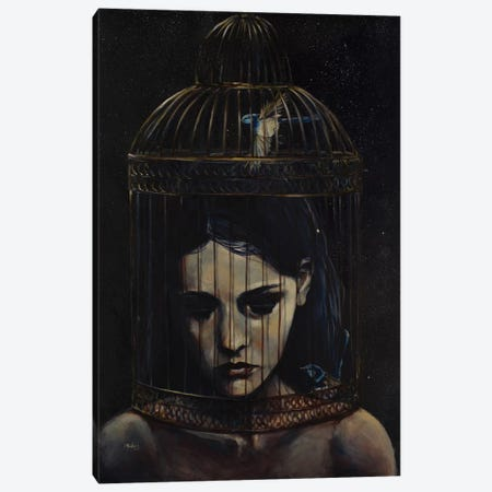 Gilded Cage Canvas Print #SRI27} by Sara Riches Canvas Art Print