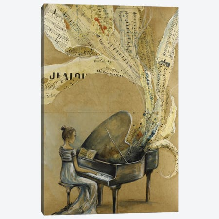 Heart's Tune Canvas Print #SRI31} by Sara Riches Art Print