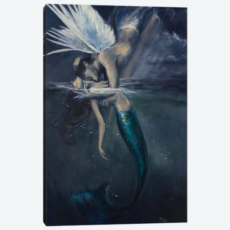 Hooked Canvas Print #SRI33} by Sara Riches Canvas Print