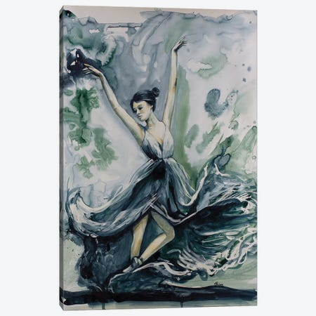 Jade Canvas Print #SRI39} by Sara Riches Canvas Print