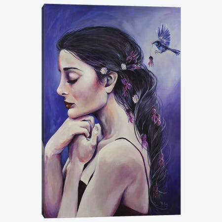Lavender Dreaming Canvas Print #SRI40} by Sara Riches Canvas Wall Art