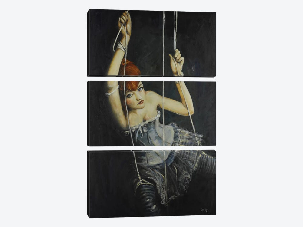 Left Hanging by Sara Riches 3-piece Canvas Wall Art