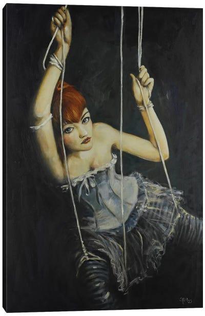 Left Hanging Canvas Art Print