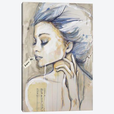 Love Me Canvas Print #SRI47} by Sara Riches Art Print