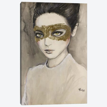 Masquerade Canvas Print #SRI48} by Sara Riches Canvas Artwork