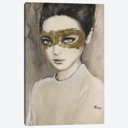 Masquerade Canvas Print #SRI48} by Sara Riches Canvas Artwork
