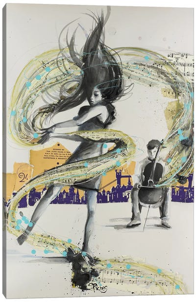 My Need, For Music Canvas Art Print