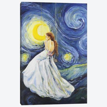 My Starry Night 3-Piece Canvas #SRI52} by Sara Riches Canvas Print