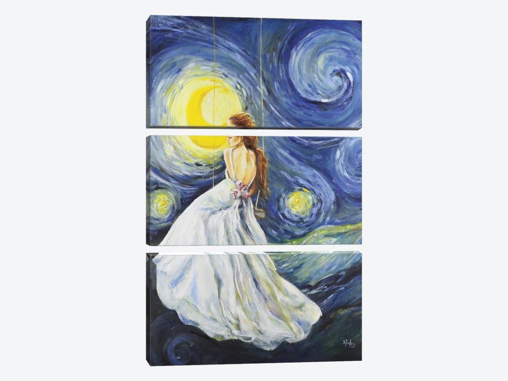 My Starry Night by Sara Riches 3-piece Canvas Art Print