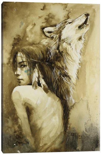 She Wolf Canvas Art Print