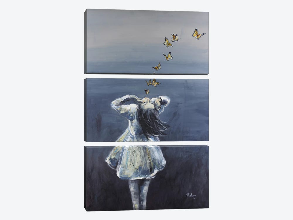 To Know Her Caresses by Sara Riches 3-piece Canvas Art Print