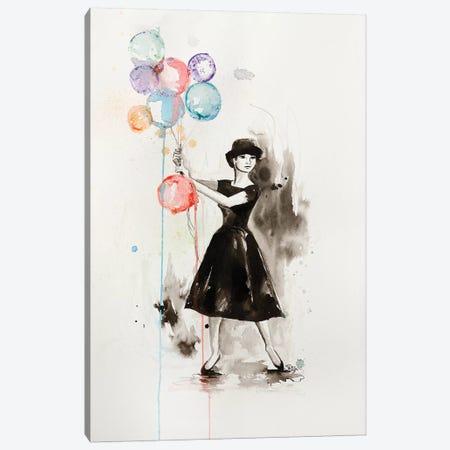 Audrey Hepburn Funny Face Canvas Print #SRI76} by Sara Riches Canvas Wall Art