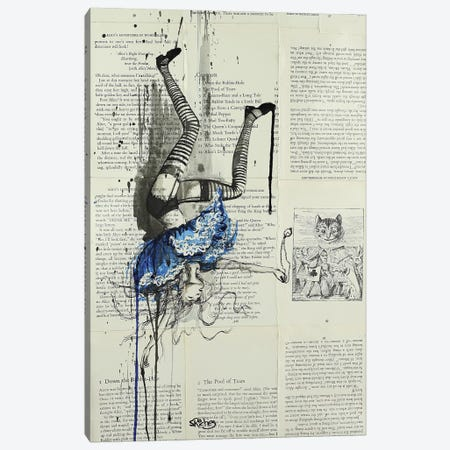 Down The Rabbit Hole Canvas Print #SRI78} by Sara Riches Canvas Print