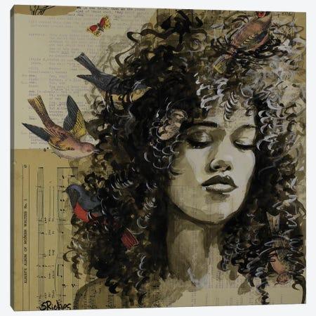 Dreamer Birds Canvas Print #SRI79} by Sara Riches Canvas Art Print