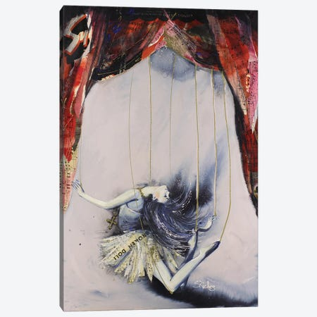 Broken Doll Canvas Print #SRI7} by Sara Riches Canvas Artwork