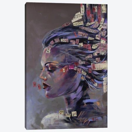 Music Me Canvas Print #SRI85} by Sara Riches Canvas Art Print