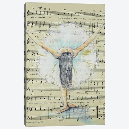 Painted Dancer Canvas Print #SRI87} by Sara Riches Canvas Print