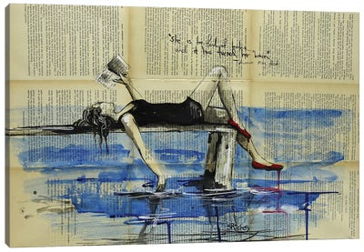 She Is Too Fond Of Books Canvas Art Print