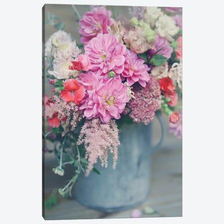 Spring Floral Arrangements Canvas Print #SRJ4} by Sarah Jane Canvas Art Print