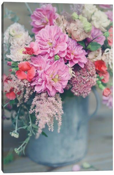 Spring Floral Arrangements Canvas Art Print