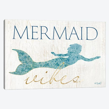 Mermaid Wishes Canvas Print #SRL12} by Kate Sherrill Canvas Art