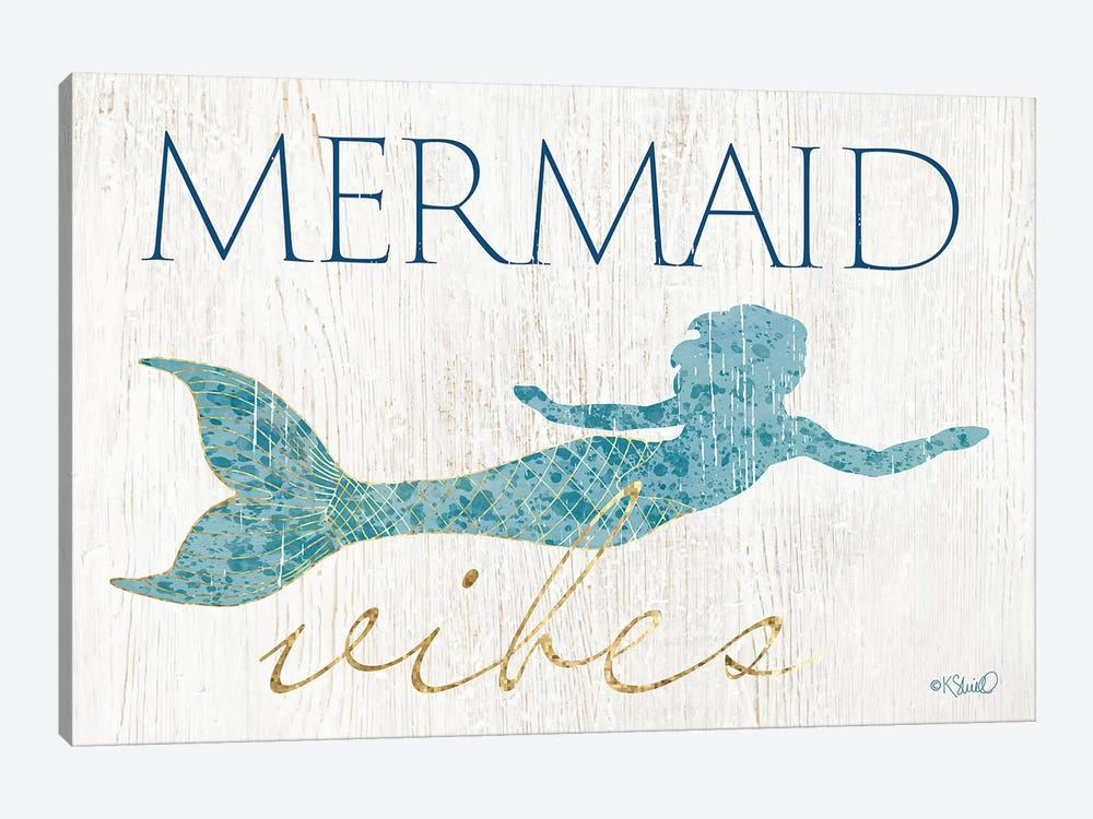 Mermaid Wishes by Kate Sherrill 1-piece Canvas Art Print
