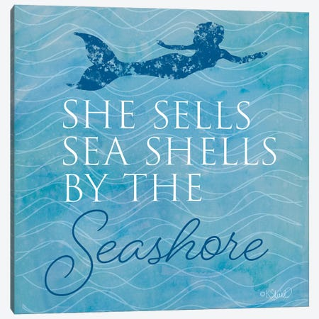 She Sells Seashells Canvas Print #SRL14} by Kate Sherrill Canvas Art Print