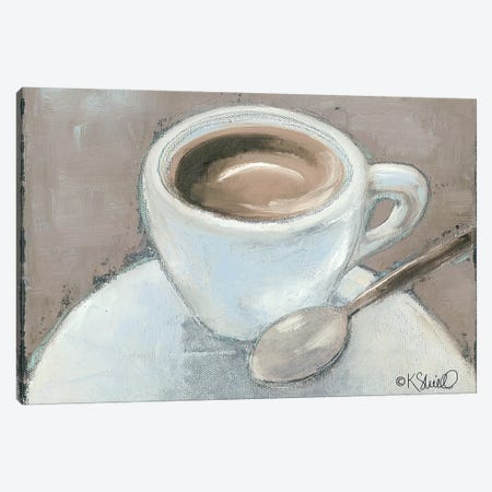 Coffee Break Canvas Print #SRL19} by Kate Sherrill Canvas Art