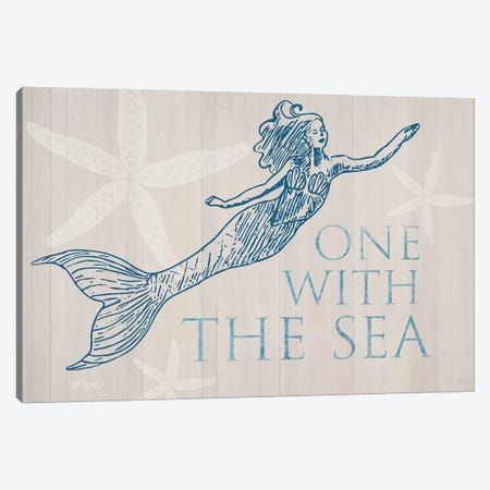 Mermaid At One with the See Canvas Print #SRL21} by Kate Sherrill Canvas Print