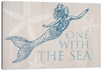Mermaid At One with the See Canvas Art Print