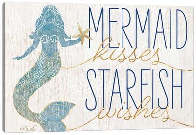 Mermaid Kisses Starfish Wishes Canvas Art Print