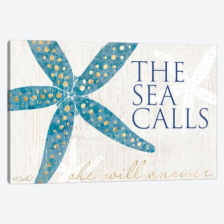 The Sea Calls Canvas Print #SRL23} by Kate Sherrill Art Print