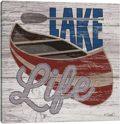 Lafe Life Canoe Canvas Art Print