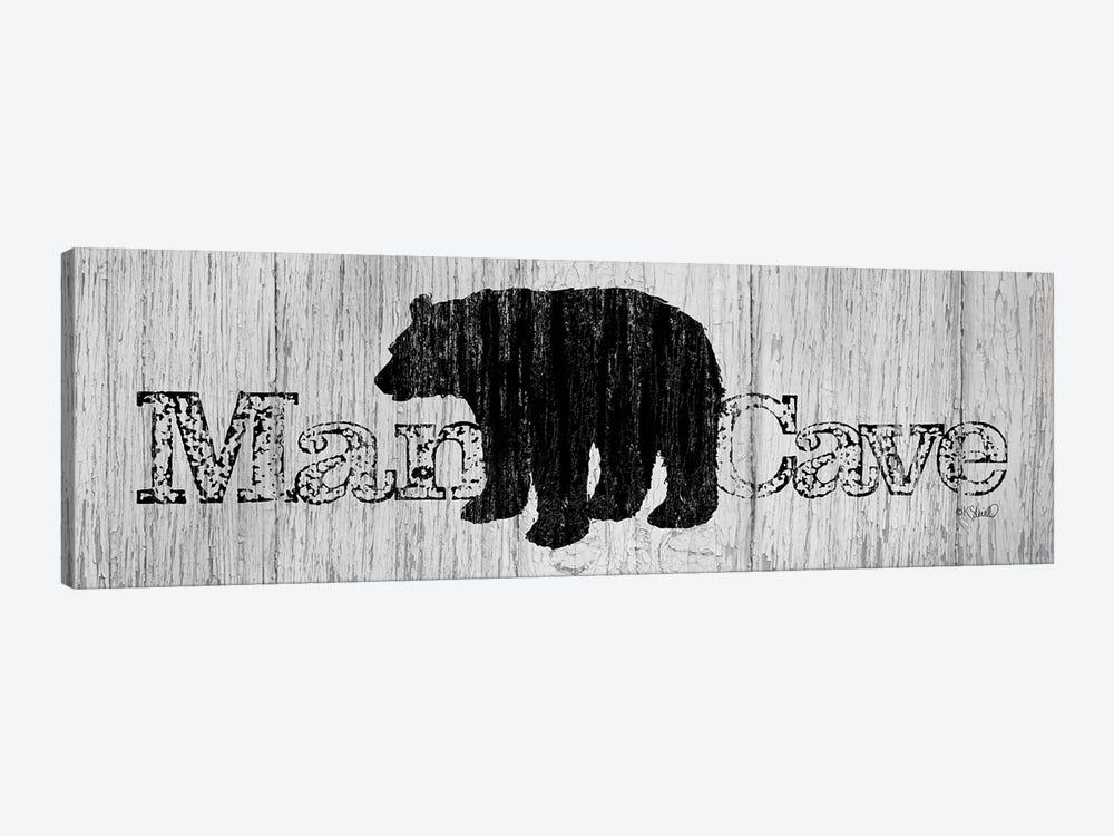 Mancave Bear by Kate Sherrill 1-piece Art Print