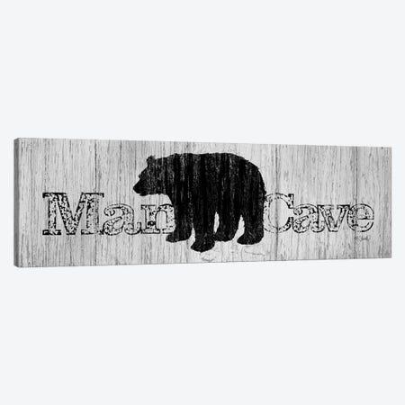 Mancave Bear Canvas Print #SRL32} by Kate Sherrill Canvas Wall Art